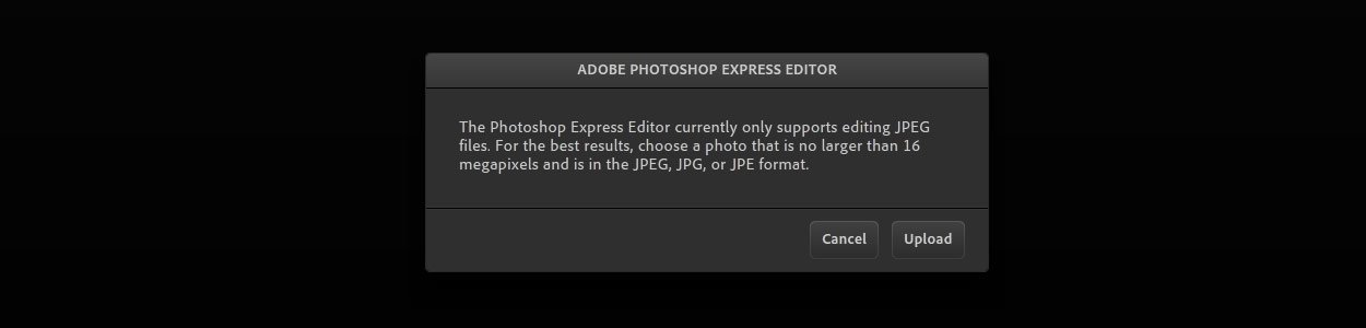 Онлайн-фоторедактор Adobe Photoshop Express Editor